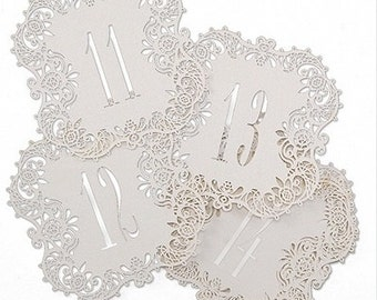 Laser Cut Table Cards for Wedding Reception and Parties (Number 11-20)