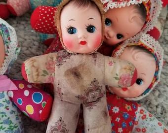 FINAL SALE Vintage bella pouet, squeaker doll, Shevie doll