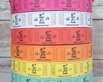 50 Circus Clown Tickets, Circus Theme Party Decorations, Carnival Birthday Party Tickets, Carnival Tickets, Party Tickets