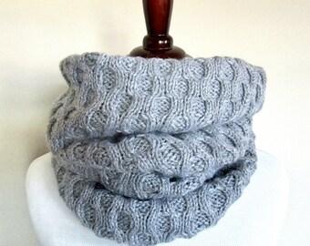 Honeycomb Infinity Scarf Knitting Pattern PDF