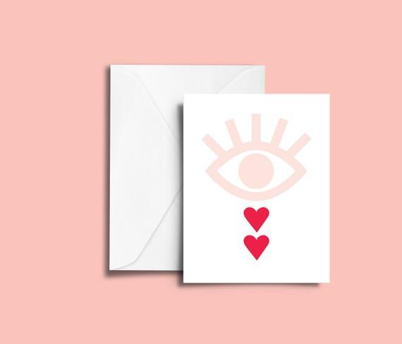 VALENTIN'S DAY heartbreak // Valentine's day Card, Scandinavian Design, Pastel colors, abstract art