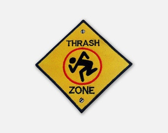 DRI Thrash Zone embroidered patch Thrash Metal/Crossover band