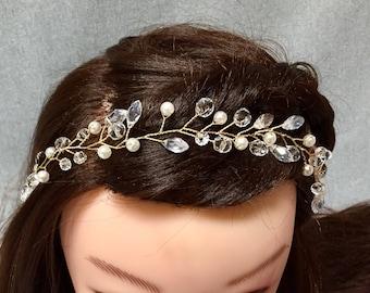 Wedding Hair Vine | Gold Bridal Hair Vine | Gold Headpiece | Crystal Wedding Headpiece