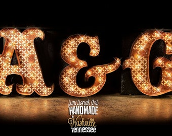 3 Letter Package, Marquee Letter, Marquee Light, Carnival Letter, Wedding  Sign,