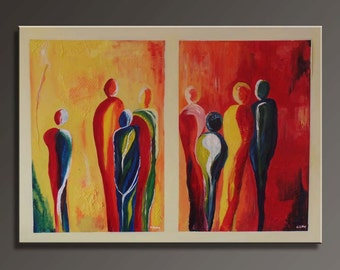 Abstract People Canvas Painting (100x80cm)