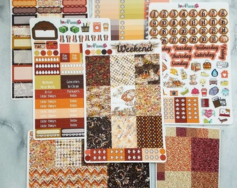 Autumn Surprise Vertical Weekly Vertical Kit for the Erin Condren and Happy Planner and more