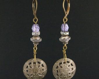 Antique button earrings Vintage button earrings Art deco button earrings Art deco earrings Vintage earrings Antique earrings