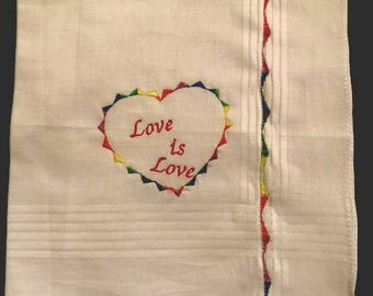 Love is Love Rainbow Handkerchief