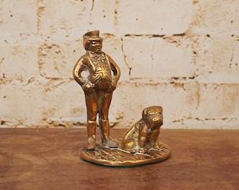 Vintage Brass British Bulldog Ornament Ornament