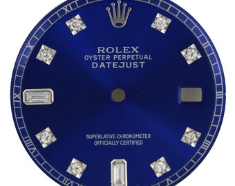 Custom Rolex Blue Diamond Dial for 36mm Watch - DIAL ONLY