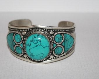 Turquoise Bracelet, Boho bracelet, Silver Bracelet, Turquoise jewelry, Navajo Bracelet, Turquoise Bangle, Turquoise cuff, Turquoise lover