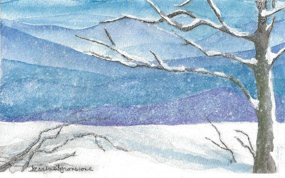 A Blue Ridge Snow