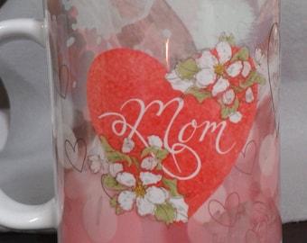 Mom's heart  11 oz. ceramic mug