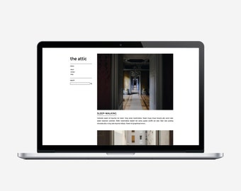 THE ATTIC - Responsive Blogger Template - Sticky Scrolling Sidebar, Simple, Chic, Minimal, Sleek