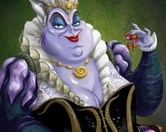 Portraits of Evil: Sea Witch | Ursula print