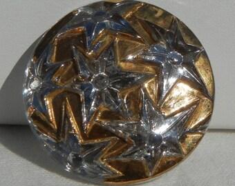 Many Stars Czech Glass Button