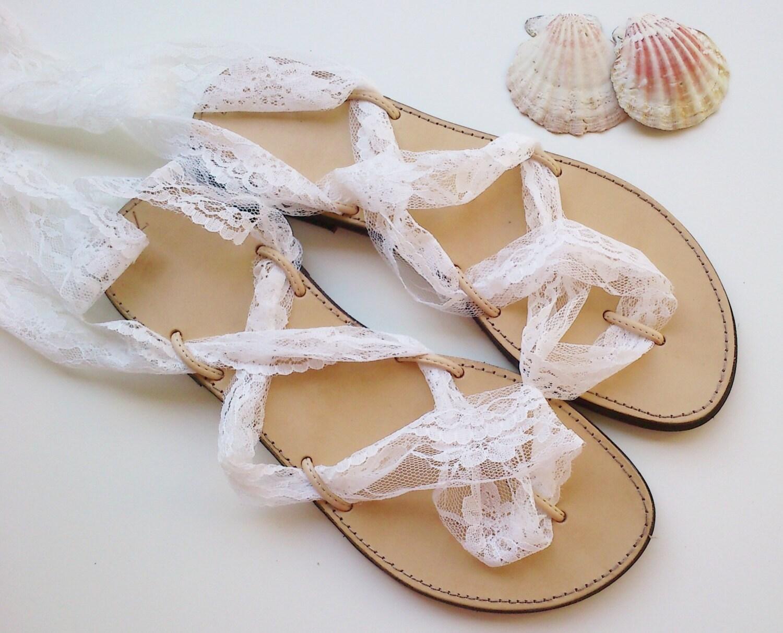 Leather sandalslace up sandals wedding shoes wedding zoom junglespirit Gallery