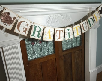 Gratitude Banner, Thanksgiving Banner, Grateful Banner, Thanksgiving Garland, Fall Banner, Thanksgiving Decoration, Fall Photo Prop