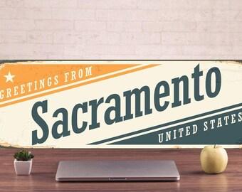 Sacramento Signs, Sacramento Sign, Sacramento Decor, Sacramento Art, Sacramento Metal Sign, Sacramento metal art, outdoor street sign