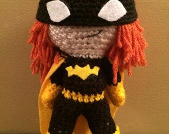 Ready To Ship Batgirl Inspired Amigurumi Doll