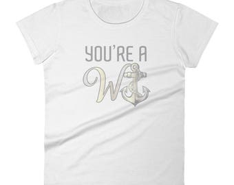 Funny you're a wanker Women's short sleeve t-shirt