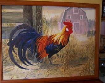 Barnyard Rooster Mosaic