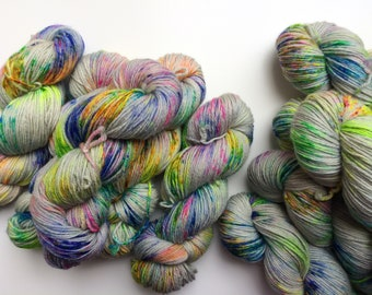 NEW DK Hand dyed yarn Blue Faced Leicester DK weight 100g in Moon Hopping British Farmed uk