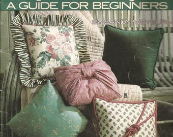 "Vintage Leisure Arts ""Pillow Making A Guide for Beginners"" Leaflet"