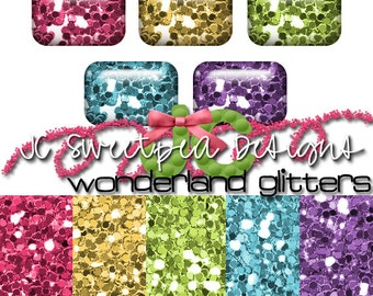 Wonderland Glitters Photoshop Style and Digital Papers for Commercial & Personal Use