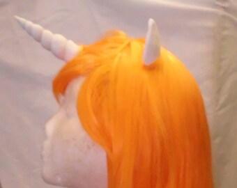 Unicorn Wig Orange Unicorn Horn Costume Wig My Little Pony Cosplay MLP Pony
