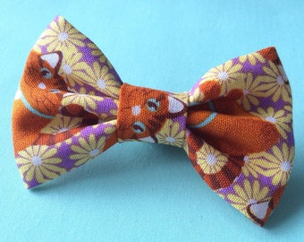 Fat Red Tabby Cat Bow tie
