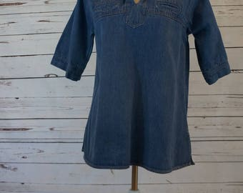 Jean Sailor Collar Shirt