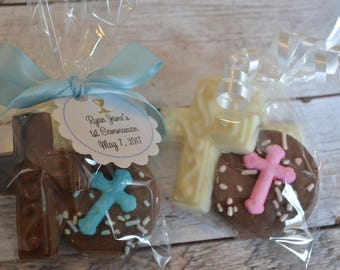 Chocolate Oreo and Cross Favor for Baptisms, Christenings, Communions - First Communion Favor - Baptism Favor - Christening Favor
