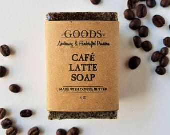 Coffee Scrub Soap, Cafe Latte Soap, Coffee Soap, Natural Soap