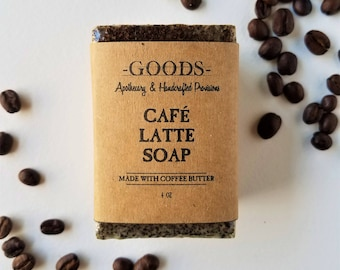 Coffee Scrub Soap, Cafe Latte Soap, Coffee Soap, Natural Soap