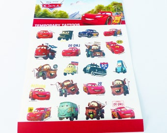 temporary tattoo CARS Temporary tattoos Disney 20 temporary tattoo