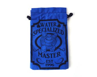Pick One XL Pokemon WaterSpecialized Master Drawstring bag for dice, Cell phones, Nintendo Ds XL, Dice, cards, or anything!