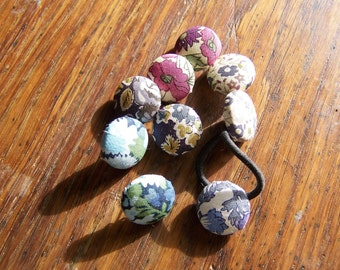 button covered in liberty of London print