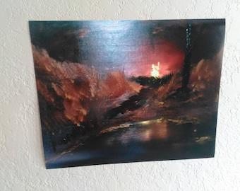 Campfire at Night print by Donny Podrasky 16x20