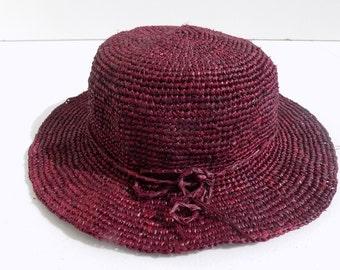 Straw Hat women Hat raffia, 56 cm, 58/59 cm, hat crochet Sun Hat, floppy hat, made hand/strohhut/straw hat/raffia