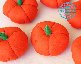 Felt Vegetables / Felt pumpkin / Felt Play Food set / Pretend Play / Kids garden set / Play Kitchen food