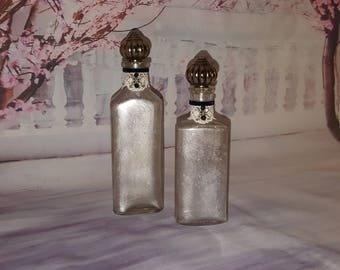 Upcycled vintage bottles (mercury glass)