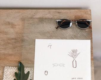 shades - canvas art print - A5