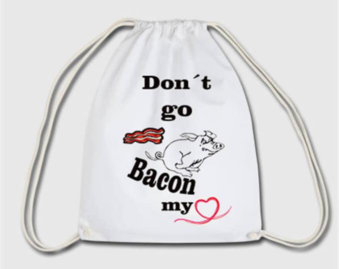 Bacon pig sports bag bag backpack gift for Christmas, birthday or Easter