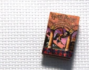 Needle Minder Miniature Book Magic Wizard Boy 1 Inch