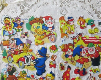 England Vintage Noddy Friends Toyland Lithographed Die Cut Paper Scraps Out Of Print  1454