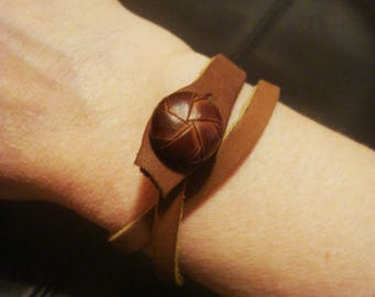 Leather Cuff - Rustic Leather Cuff - Brown Leather Bracelet - Leather Cuff Bracelet - Leather Jewelry - Boho Wrap Bracelet - Leather Choker