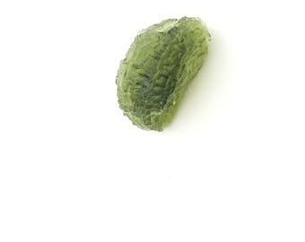 Vibrant Green Moldovite Meteor Impact Crystal Fragment Specimen