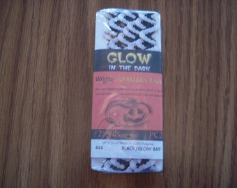 Glow Rick Rack Black and White
