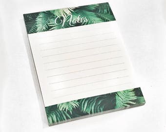 Palm Leaf Notepad - To Do List Notepad, Office Notepad, Small Notepad, Tropical Notepad, Cute Notepad
